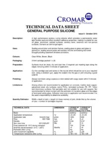 Technical Data Sheet (TDS)